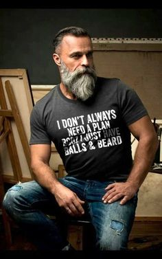 33 trending beard styles for men 11 – coiffures et barbe hommes Trimmed Beard Styles, Beard Styles For Men, Hair And Beard Styles, Beards And Hair, Grey Hair Beard, Grey Hair Men, Men Hair, Hair Styles, Beards And Mustaches