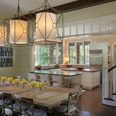 Interior transom - Open Concept Kitchen And Dining Room Design Ideas, Pictures, Remodel, and Decor - page 16