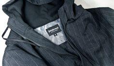 Gray Executive Pinstripe Hoodie - Betabrand