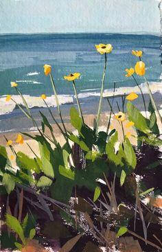Summerland Daisies - gouache