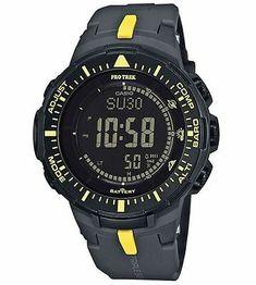 Casio Watch Price, Casio Protrek, Mens Digital Watches, G Shock Men, Solar Watch, Casio G Shock, Fashion Branding, Accessories, Yellow