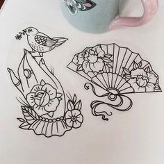 leque tattoo | Brisa Ink