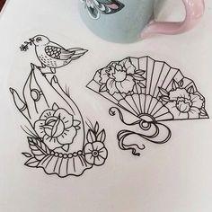 leque tattoo | Brisa Ink