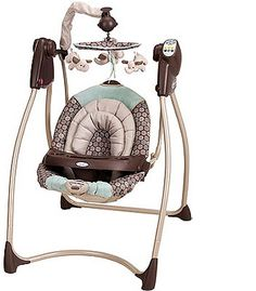 Love this swing. Plays either classical music, nature sounds, or white noise. 6 speeds. Timer.