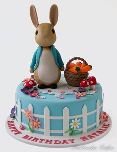Peter Rabbit Birthday Cake..too cute! Maybe for someone's birthday in the future....