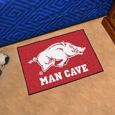 "Arkansas Razorbacks Man Cave Starter Area Rug Floor Mat 20"""" X 30"""""