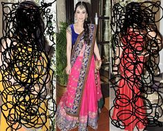 Haha Just for fun!  The middle pic is what I wanted to pin..Love how the duppata is draped!   Picture via http://www.weddingsutra.com/blog/