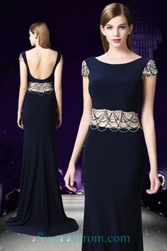 High Neck Cut Out Waist Beading Evening Dresses With Tassels ALS Affordable Evening Dresses, Formal Evening Dresses, Evening Gowns, Tassels, Beading, Shopping, Color, Fashion, Evening Gowns Dresses