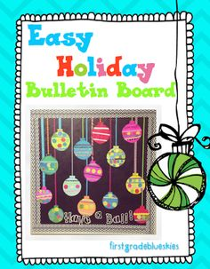 Christmas Crafts in the Classroom: Easy Bulletin Board