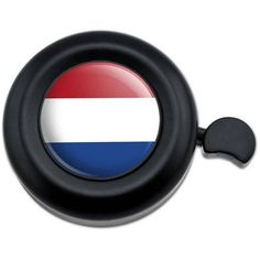 The Netherlands National Country Flag Bicycle Handlebar Bike Bell, Black