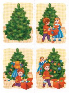 Logische volgorde: Kerstboom versieren Christmas Worksheets, Christmas Activities, Christmas Printables, Sequencing Pictures, Sequencing Cards, Story Sequencing, Sequencing Activities, Math For Kids, Activities For Kids
