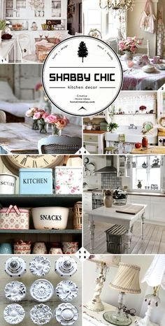 Shabby chic kitchen decor ideas!