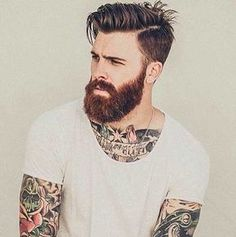 Hipster Haircuts for Men. Awesome Hipster Haircuts for Men - Fashion Lengthy Impression. Classy Short Hipster Haircuts for Men 2019 Men Hairstyles Mens Toupee, Medium Hair Styles, Long Hair Styles, Beard Love, Red Beard, Hipster Man, Hipster Style, Beard Tattoo, Hair And Beard Styles