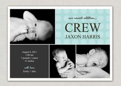 #baby #boy #birth #announcement
