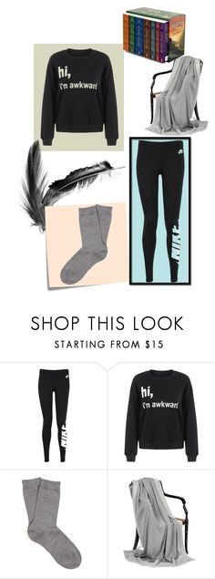 """Untitled #97"" by weirdoqueen on Polyvore featuring NIKE, Post-It and Falke"