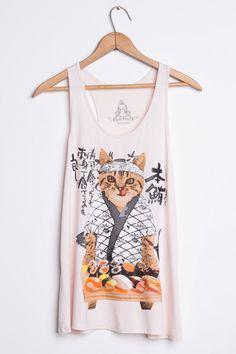Sushi cat tank now in blush!