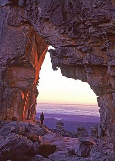 Dawn at Wolfberg arch, Cederberg mountains, South Africa