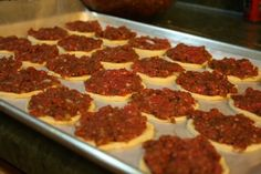 lachmagine recipe - or mini meat pizzas, a classic syrian recipe, and one of my favorite foods!