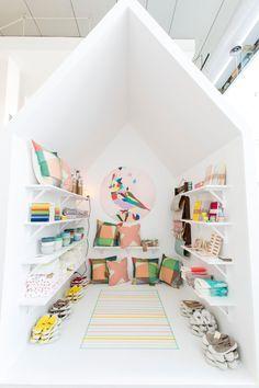 ein Spielhaus im Haus - tolle Idee!