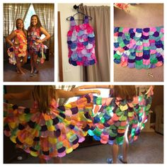DIY owl costume. Like the idea of full tail feathers