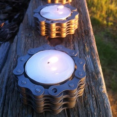 Bicycle Chain Tealight Holder $14