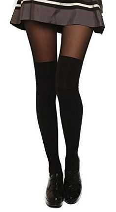 Ordered a pair of these this week, awesome alternative to get the same look if your legs are just a bit to large to keep thigh highs up comfortably. AM Landen®Sexy MOCK Thigh-Highs Pantyhose Tights(Sheer Black/Black) AM Landen http://www.amazon.com/dp/B00TMGA594/ref=cm_sw_r_pi_dp_5V5evb0XC16PB