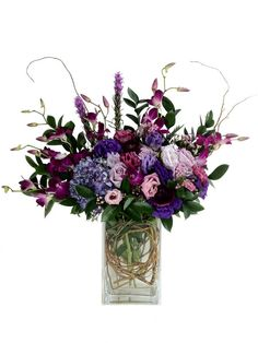 Gorgeous tall mix for that special someone. Roses, Orchids, Delphinium, and Hydrangea $125