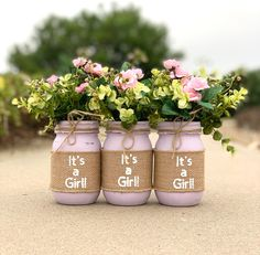 Diy Baby Shower Decorations, Baby Shower Table Centerpieces, Baby Shower Themes, Baby Boy Shower, Shower Ideas, Mason Jar Centerpieces, Centerpiece Ideas, Baby Shower Floral, Flowers For Baby Shower