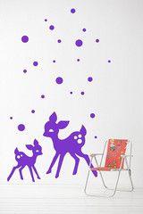 My Deer Wall Sticker - Violet (mabel's room?)