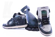"Fallout ""Vault Dweller"" Dunks by Jacob Patterson in collaboration with Emmanuelabor"