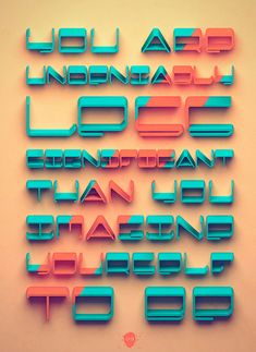 20 Inspiring & Innovative Typography Design Posters / Wallpapers