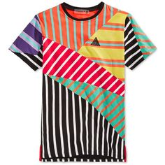 Black Pyramid Men's Pieced Mixed-Stripe T-Shirt ($58) ❤ liked on Polyvore featuring men's fashion, men's clothing, men's shirts, men's t-shirts, mutli, mens striped t shirt, mens t shirts and mens striped shirt