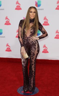 Jennifer Lopez Wowed At The Latin Grammys In A Sheer Catsuit