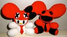 Deadmau5 Dolls In Crochet  Hello Kitty Inspired & Original