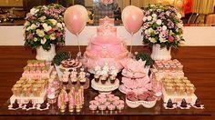 Festa com tema Bailarina mesa de doces pequena.