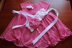 Vestido hojas rosa