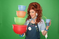 """Dixie's Tupperware Party"" is a clever, fast-paced show that combines improv, satire, and audience participation. But, it's also an actual Tupperware party. Theatre Reviews, Cabaret, Creative Food, Play Houses, Food Storage, Essential Oils, Party, Theater, Vegas Fun"