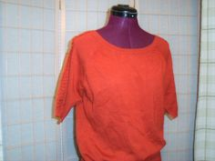 Cato Sz L Burnt Orange Soft Knit Top W/ Raglan Sleeves #Cato #KnitTop