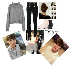 """💖Kim Seokjin💖"" by eskimoqueen ❤ liked on Polyvore featuring injury, Balmain, Nine to Five and Ray-Ban"