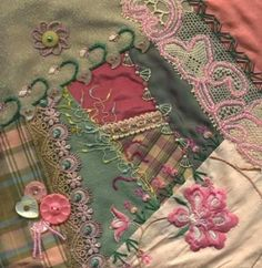 crazy quilt block by Nanette Warn