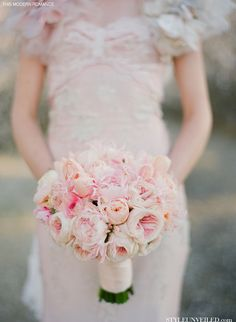 Romantic 'Pretty in Pink' Bridal Bouquet ~ This Modern Romance