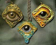Eyes - polymer clay