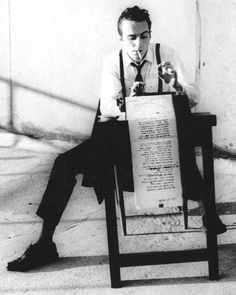 This cover shot of Joe Strummer typing was taken in late 1980 for the New Musical Express (NME) edition of January 3, 1981.