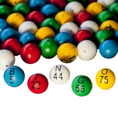 "Bingo Balls EZ READ 7//8/"" 5-Color Plastic Bingo Ball Set-Glare and Fade Resistant"