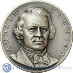Andrew Johnson Presidential Silver Art Medal http://www.gainesvillecoins.com/category/293/silver.aspx