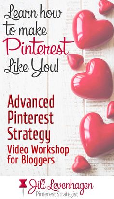 Advanced Pinterest Strategy Video Workshop Jill Levenhagen