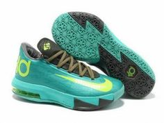 fcc2231ef1fd Nike Zoom KD 6 Mint Green Grey Volt Shoes discount on sale. The newest kd