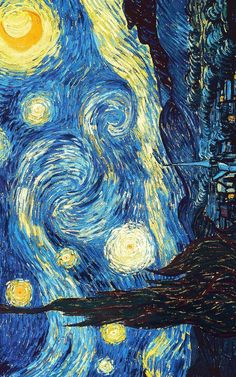 Starry Night by Vincent Van Gogh - Art Painting Van Gogh Wallpaper, Painting Wallpaper, Vincent Van Gogh, Van Gogh Tapete, Starry Night Wallpaper, Paris Poster, Van Gogh Art, Van Gogh Paintings, Famous Art