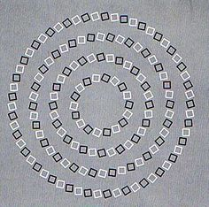 Four perfectly round circles. It's really difficult to see this as it actually is! If not impossible...