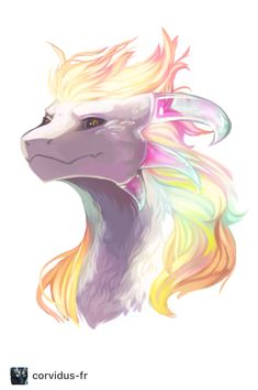 Wow it's like a dragon cat wolf thingie ma jig with rainbows.... so UNICORN TOO!!